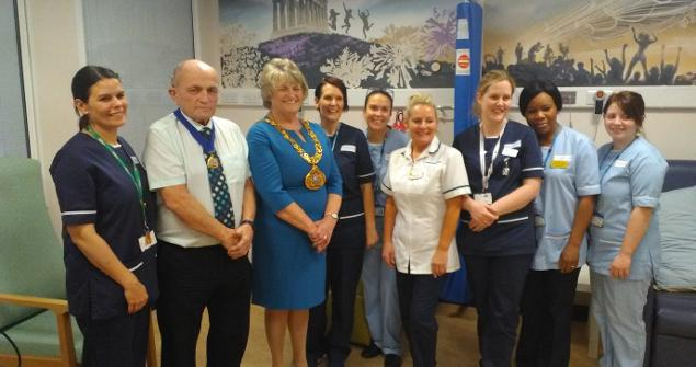 6 December 2017 - Visiting staff at the Phoenix Unit of Sunderland Royal Hospital on Wednesday. Phoenix Unit is one of my chosen charities who care for cancer patients undergoing chemotherapy and other similar treatments.