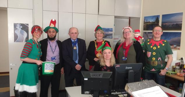 8 December 2017 - Here I am on 'Elf Day' on which raised £283 towards the Mayor's Charity Appeal Fund 2017-18. Thank you to everyone who took part and donated money.