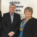 11 April 2018 - As part of the Citizens Advice's 1st Anniversary Celebrations my Consort and I visited the centre in Waterloo Place.