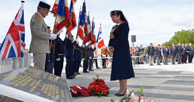 Also as part of my visit to St Nazaire I attended the RMS Lancastria 78th anniversary commemoration where I laid a wreath on behalf of Sunderland.