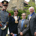 4 July 2018 - My Consort and I attended the Annual 4th July celebrations held at Washington Old Hall.