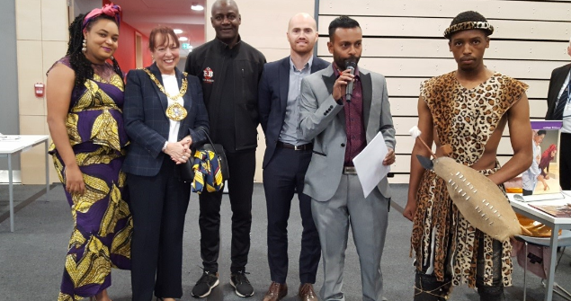25 October 2018 - SBMEN held an event to celebrate Black History Month. There were several displays, stalls and performances.