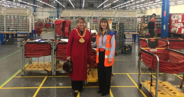 3 December 2018 - I passed on Christmas greetings to postmen and women at the Sunderland Delivery Office.