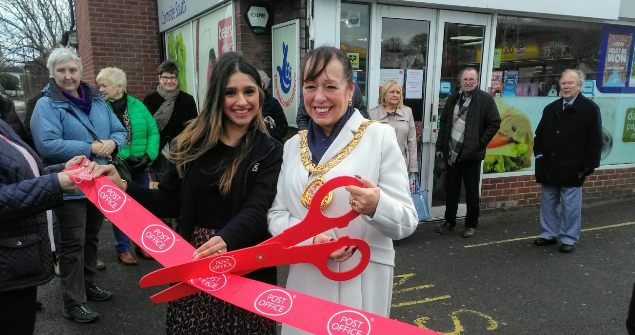 12 February 2019 (b) - I officially opened a new Post Office at the Nisa store, East Herrington.