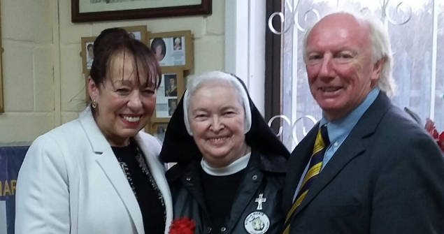 13 February 2019 (a) - I visited Sister Mary Scholastica at the Stella Maris Seafarers Centre. Sr. Scholastica dedicates herself to the welfare of the world's mariners providing practical and pastoral support.
