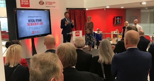 6 March 2019 - I attended the Royal Opening of the Beacon of Light by HRH The Countess of Wessex GCVO.
