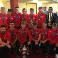 30 May 2019 (b) - I hosted a thank you event for Sunderland Under 15 District Football Club. Jimmy Montgomery also came along to congratulate the team on their amazing achievements.