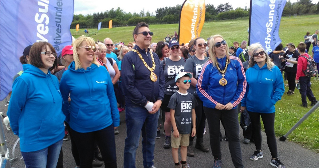 30 June 2019 - The Mayoress and I took part in the Active Sunderland Walk at Herrington Country Park, well done to everyone involved.