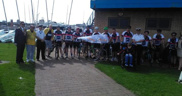 21 August 2019 (a) - attended Sunderland Yacht Club where I welcomed a team a colleagues from HMS ANSON who cycled from Barrow-in-Furness to the city as part of a Charity Bike Ride in aid of Grace House Charity, well done everyone!.