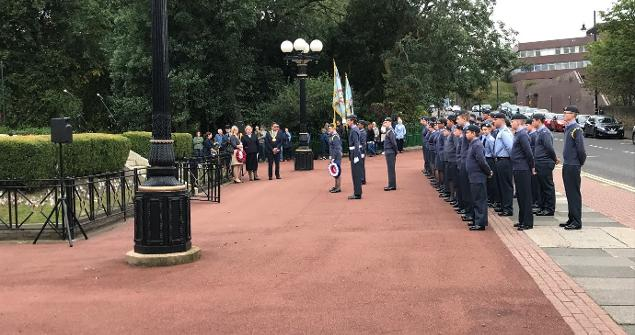 15 September 2019 - I attended a ceremony at the Cenotaph on Burdon Road in commemoration of the Battle of Britain.