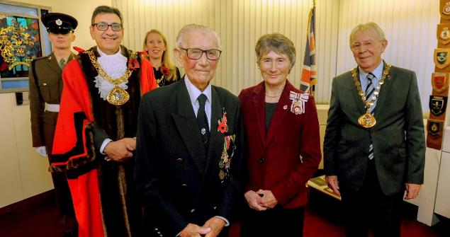 1 November 2019 (a) - I was proud to host a reception for war hero Mr Len Gibson, who was presented with a British Empire Medal (BEM) by Mrs Susan Winfield, Lord-Lieutenant for Tyne and Wear.
