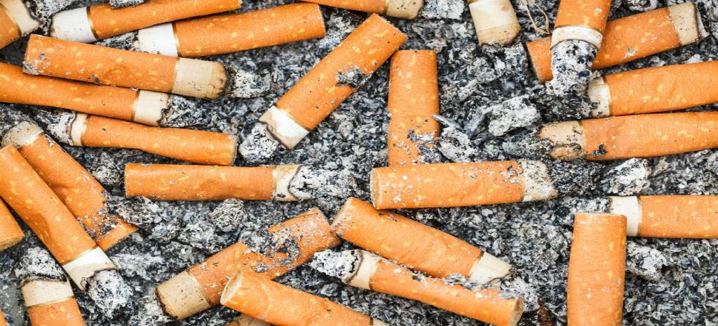 Cigarette litter